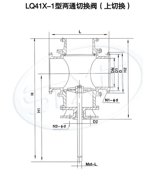 sq48x-1,lq41x-1三通切换阀/两通切换阀图片